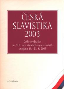 Obrázok Česká slavistika 2003