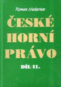 Obrázok České horní právo díl. II