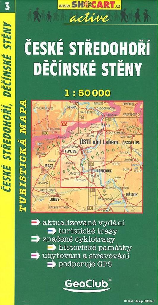 České středohoří Děčínské stěny 1:50 000