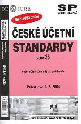Obrázok České účetní standardy právní stav k 1.2.2004