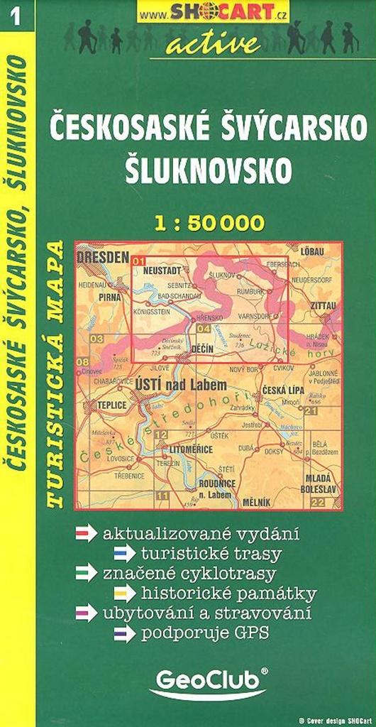 Českosaské, Švýcarsko, Šluknovsko 1:50 000