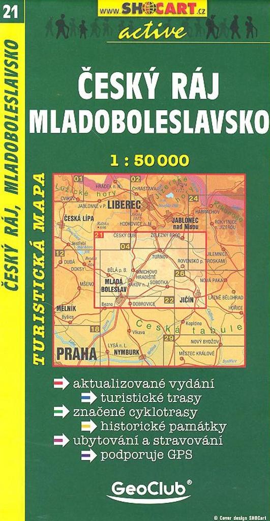 Český ráj, Mladoboleslavsko 1:50 000