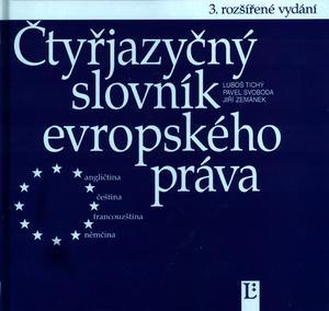 Obrázok Čtyřjazyčný slovník evropského práva