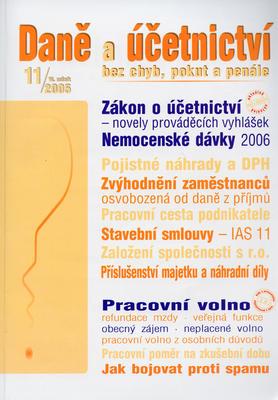 Obrázok Daně a účetnictví bez chyb, pokut a penále 11/2005
