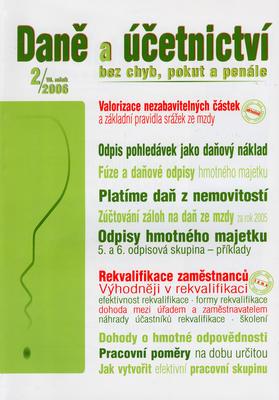 Daně a účetnictví bez chyb, pokut a penále 2/2006