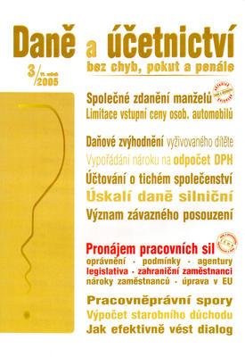 Obrázok Daně a účetnictví bez chyb, pokut a penále 3/2005