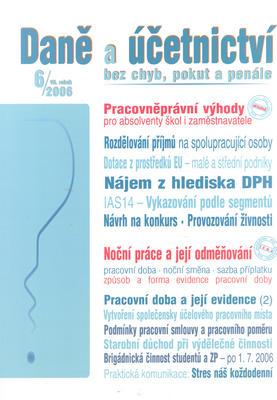 Obrázok Daně a účetnictví bez chyb, pokut a penále 6/2006