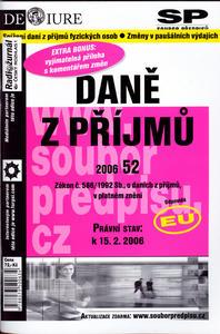 Obrázok Daně z příjmu v platném znění k 15.2.2006