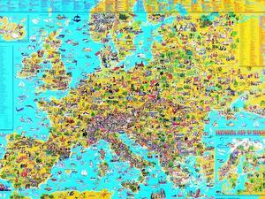 Obrázok Detská mapa Európy
