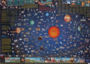 Obrázok Detská mapa slnečnej sústavy