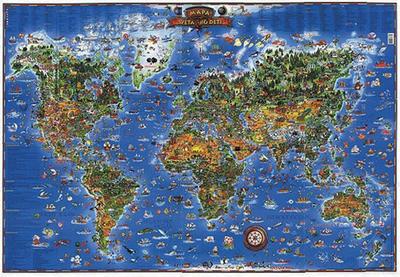 Obrázok Detská mapa sveta