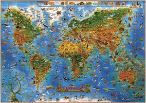 Obrázok Dětská mapa Živočichové světa