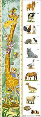 Dětský metr (žirafa + zvířat)
