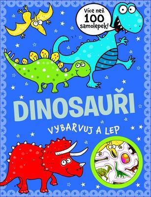 Obrázok Dinosauři vybarvuj a lep
