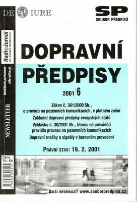 Obrázok Dopravní předpisy evropských států Právní stav k 19.2.2001
