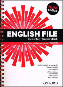 Obrázok English File Elementary Teacher´s Book with Test and Assessment CD-ROM