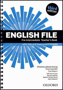 Obrázok English File Pre-Intermediate Teacher´s Book with Test and Assessment CD-ROM