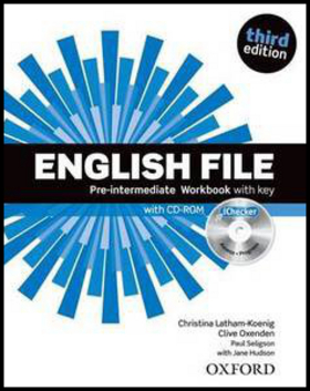 English File Pre-Intermediate Workbook with key + iChecker CD-ROM - Clive Oxenden, Paul Selingson, Christina Latham-Koenig
