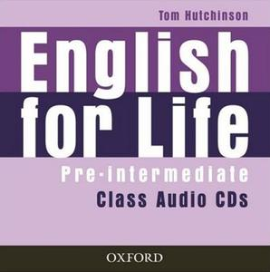 Obrázok English for life Pre- intermediate Class audio CDs