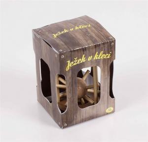 Obrázok Ježek v kleci dřevěný