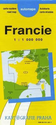 Obrázok Francie  1:1000000