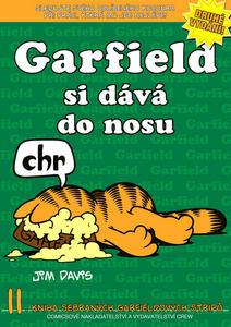Obrázok Garfield si dává do nosu