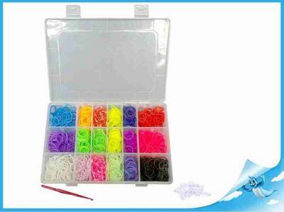 Obrázok Gumičky 1440ks s doplňky v plastové krabičce