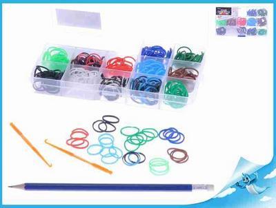 Obrázok Gumičky 360ks pro kluky s doplňky v plastové krabičce