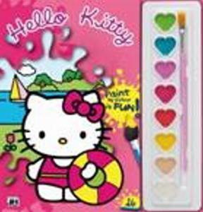 Obrázok Hello Kitty omalovánka s vodovkami