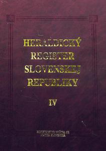 Obrázok Heraldický register Slovenskej republiky IV