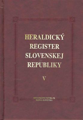 Obrázok Heraldický register Slovenskej republiky V