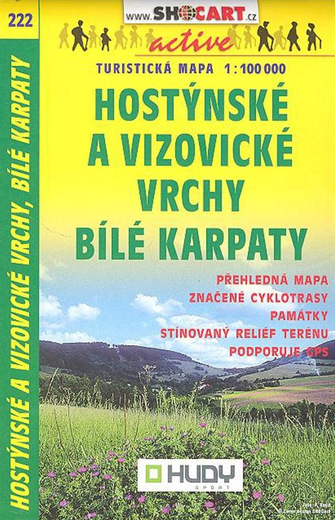 Hostýnské a Vizovické vrchy, Bílé Karpaty 1:100 000