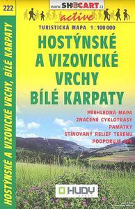 Obrázok Hostýnské a Vizovické vrchy, Bílé Karpaty 1:100 000