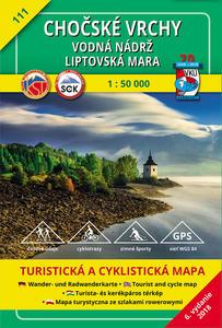 Obrázok Chočské vrchy Vodná nádrž Liptovská Mara 1:50 000
