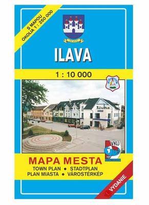 Ilava Mapa mesta Town plan Stadtplan Plan miasta Várostérkép