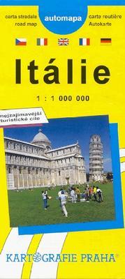 Obrázok Itálie  automapa   1:1 000 000  Njeznámější turistické cíle