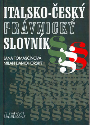 Obrázok Italsko-český právnický slovník
