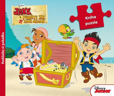 Obrázok Jake a Piráti ze Země Nezemě Kniha puzzle
