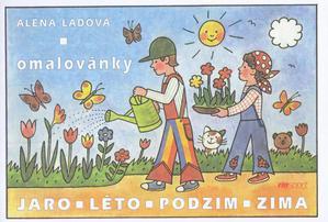 Obrázok Jaro Léto Podzim Zima - omalovánka
