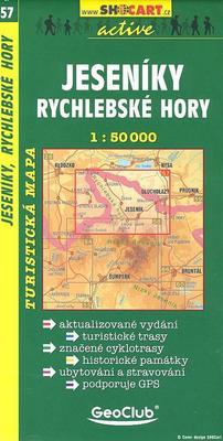Obrázok Jeseníky, Rychlebské hory 1: 50 000