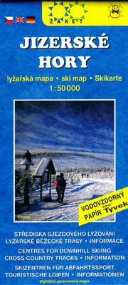 Jizerské hory Lyžařská mapa 1:50 000
