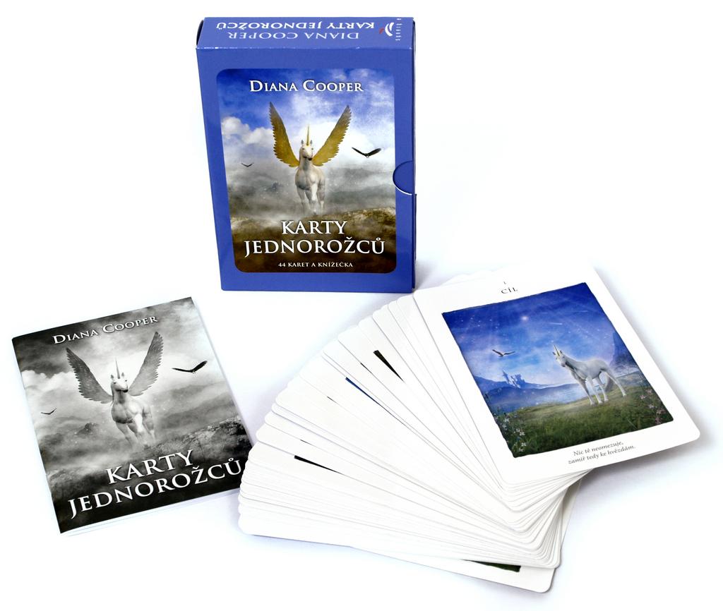 Karty jednorožců 44 karet a knížečka - Diana Cooper
