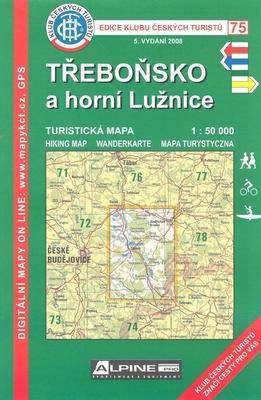 KČT 75 Třeboňsko a horní Lužnice 1:50 000