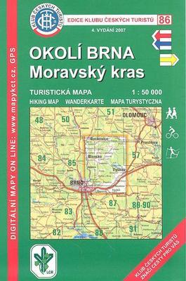 Obrázok KČT 86 Okolí Brna  Moravský kras