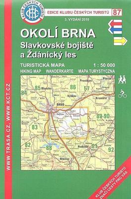 Obrázok KČT 87 Okolí Brna, Slavkovské bojiště a Ždánský les 1:50 000