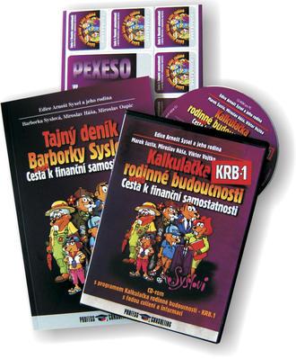 Obrázok Komplet 2ks Tajný deník Barborky Syslové + CD Kalkulačka rodinné budoucnosti