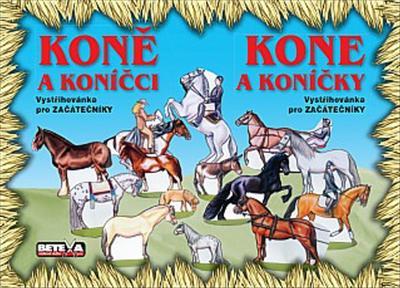 Obrázok Koně a koníčci Vystřihovánka pro začátečníky