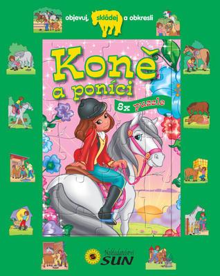 Obrázok Koně a poníci 8x puzzle
