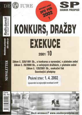 Obrázok Konkurs, dražby, exekuce k 1.4.2002