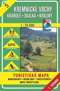 Obrázok Kremnické vrchy Krahule, Skalka, Králiky 1 : 25 000
